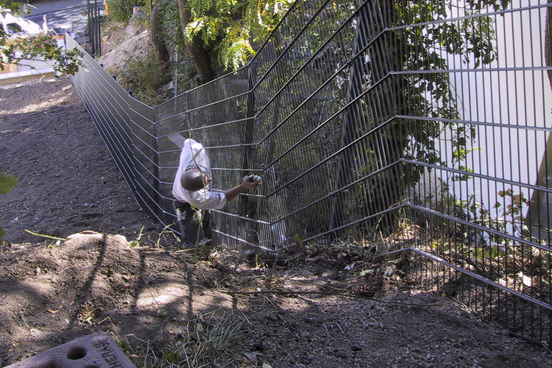 Zaunbau direkt vor Ort beim Kunden