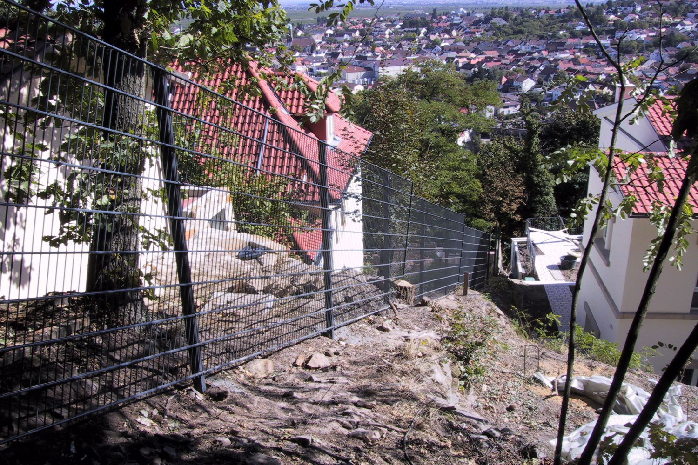 Zaun Am Hang Draht Hemmer