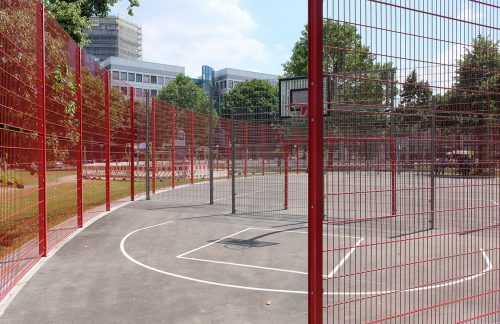 Mannheim Sportplatzabsperrung