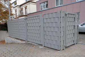 Einzäunung für Mülleimer mit Sichtschutz